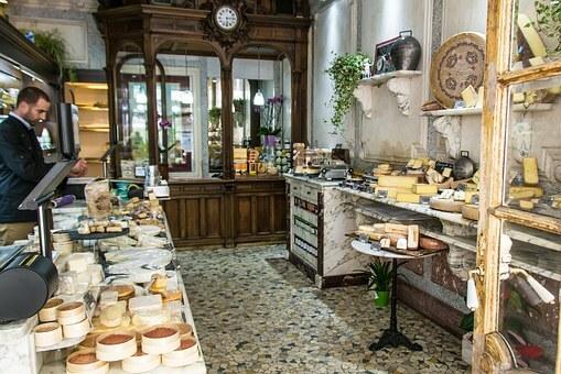 Imagen de una tienda típica Parisina
