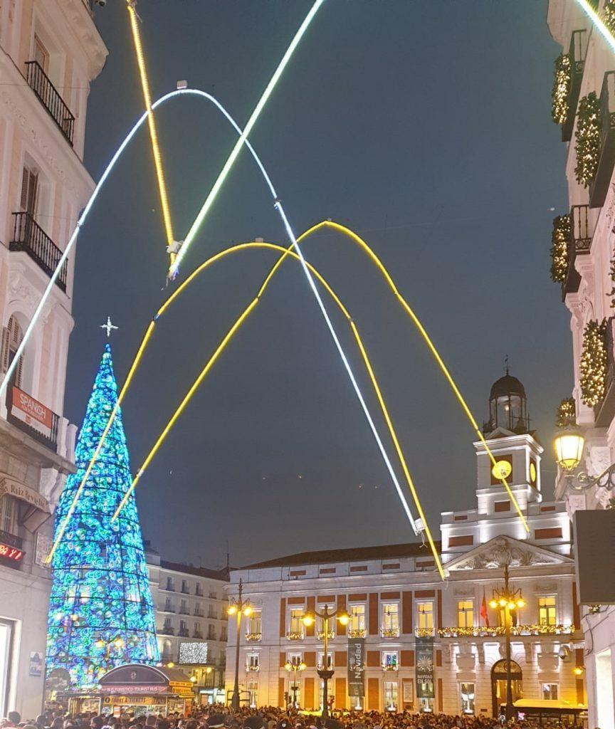 Luces de navidad en la Puerta Del Sol