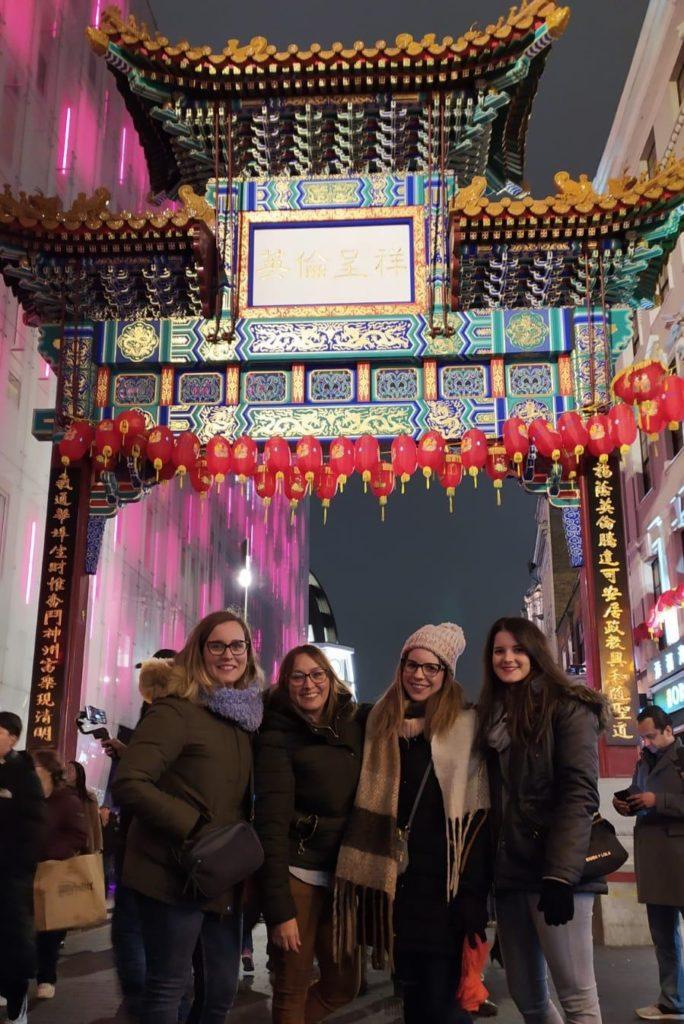 Chinatown Gate en Londres, puerta de entrada al barrio Chino