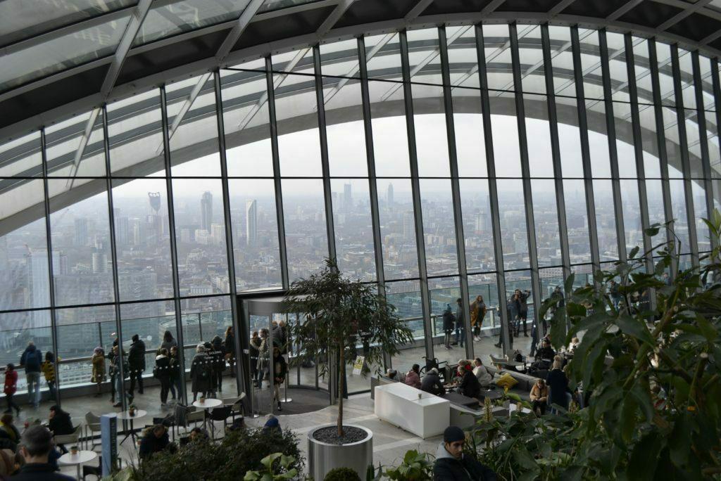 Foto del Sky garden por dentro